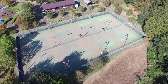 大子広域公園オートキャンプ場テニスコート